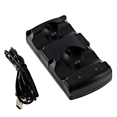 billige PS3-tilbehør-PS3/PS3 move USB Lader Til Sony PS3 ,  Dobbel USB / Vifte Lader Metall / ABS 1 pcs enhet