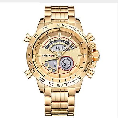 Bărbați Quartz Ceas de Mână Chineză Calendar / Cronograf / Rezistent la Apă / Creative Oțel inoxidabil Bandă Charm / Lux / Casual /