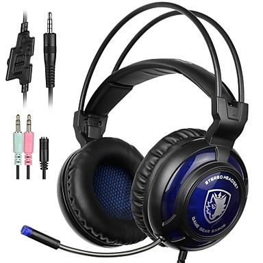 SA805 Peste ureche Cordeluțe Cablu Căști Dinamic Plastic Jocuri Cască Cu controlul volumului Cu Microfon Setul cu cască