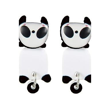 Pentru femei Adorabil Panda Cercei Stud - Design Animal Negru cercei Pentru Club / Muncă