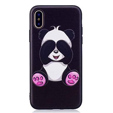 Pentru iPhone X iPhone 8 iPhone 8 Plus Carcase Huse Model Carcasă Spate Maska Panda Moale TPU pentru Apple iPhone X iPhone 8 Plus iPhone
