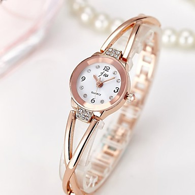 Women's Wrist Watch Quartz Water Resistant / Water Proof Chronograph Creative Stainless Steel Band Analog Charm Sparkle Casual Silver / Rose Gold - Silver Rose Gold