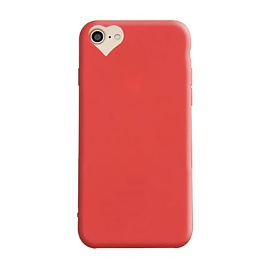Pentru iPhone 7 iPhone 7 Plus Carcase Huse Anti Șoc Ultra subțire Carcasă Spate Maska Culoare solidă Inimă Moale TPU pentru Apple iPhone
