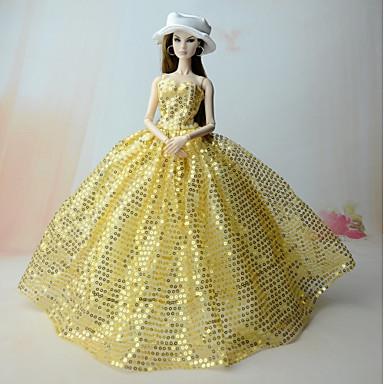 Rochii Rochii Pentru Barbie Doll Satin/Tul Paietă Rochie Pentru Fata lui păpușă de jucărie