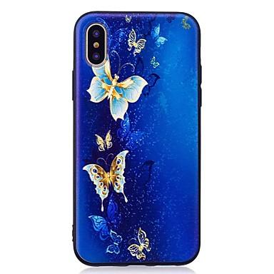 Pentru iPhone X iPhone 8 iPhone 8 Plus Carcase Huse Model Carcasă Spate Maska Fluture Moale TPU pentru Apple iPhone X iPhone 8 Plus