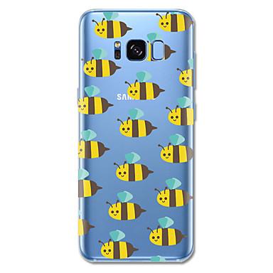Недорогие Чехлы и кейсы для Galaxy S6-Кейс для Назначение SSamsung Galaxy S8 Plus / S8 С узором Кейс на заднюю панель Плитка / Мультипликация / Животное Мягкий ТПУ для S8 Plus