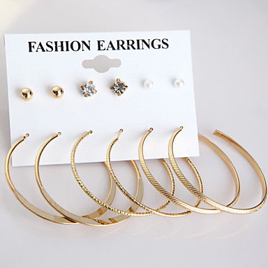 Pentru femei Imitație de Perle Cercei Stud, Cercei Rotunzi - Auriu, Argintiu / Cercei Stud