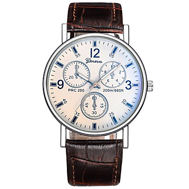 Bărbați Quartz Ceas de Mână Chineză Ceas Casual PU Bandă Charm Casual Ceas Elegant Elegant Modă Negru Maro