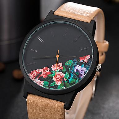 Pentru femei Unic Creative ceas Ceas Casual Ceas La Modă Ceas de Mână Quartz PU Bandă Charm Lux Creative Casual Elegant Cool Negru Maro