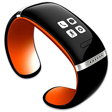 trendy stijl l12s oled bluetooth armband horloge weergave muziekspeler / anti-verloren functie