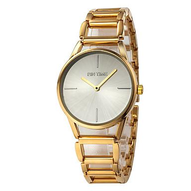 Pentru femei Quartz Ceas de Mână Mare Dial Aliaj Bandă Casual Modă Auriu
