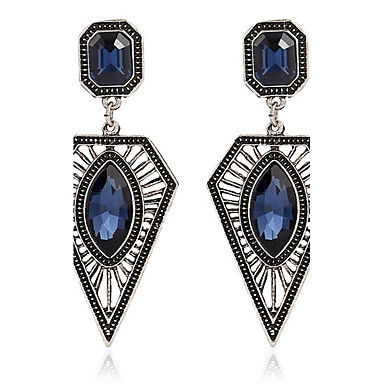 172688842a28 Mujer Zafiro Zafiro Sintético Corte esmeralda Marquesa Pendientes colgantes  Zirconio Aretes damas Personalizado Moda Joyas Azul
