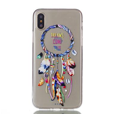 Pentru iPhone X iPhone 8 iPhone 8 Plus Carcase Huse Ultra subțire Transparent Model Carcasă Spate Maska Prinzător de vise Moale TPU pentru