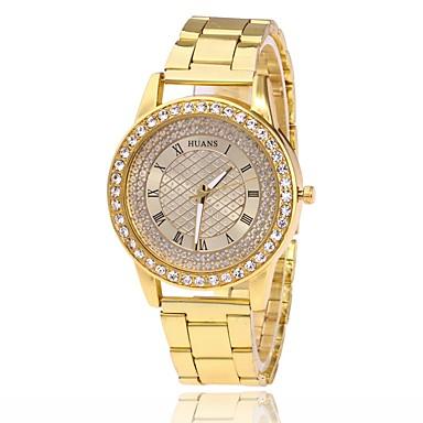 Bărbați Pentru femei Simulat Diamant Ceas Ceas de Mână Ceas La Modă Chineză Quartz imitație de diamant Aliaj Bandă Charm Casual Elegant