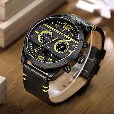 Bărbați Unic Creative ceas Ceas de Mână Ceas La Modă Ceas Sport Ceas Casual Japoneză Quartz Calendar Piele Autentică Bandă Charm Lux