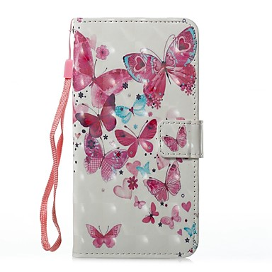 Case For Samsung Galaxy J5 (2017) J3 (2017) Card Holder Wallet with Stand Flip Magnetic Pattern Full Body Butterfly Hard PU Leather for