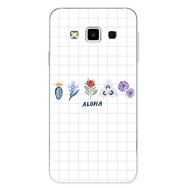 voordelige Galaxy A-serie hoesjes / covers-hoesje Voor Samsung Galaxy A3 (2017) / A5 (2017) / A7 (2017) Patroon Achterkant Geometrisch patroon / Bloem Zacht TPU