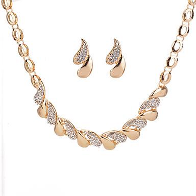 96b376c19464 abordables Juego de Joyas-Mujer Geométrico Conjunto de joyas Brillante Gota  damas