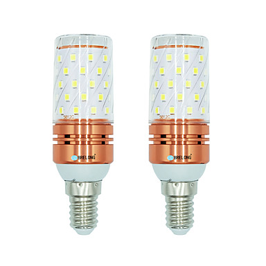 BRELONG® 2pcs 12W 1000lm E14 LED Mais-Birnen T 60 LED-Perlen SMD 2835 Warmes Weiß Weiß Dual Light Source Farbe 220-240V