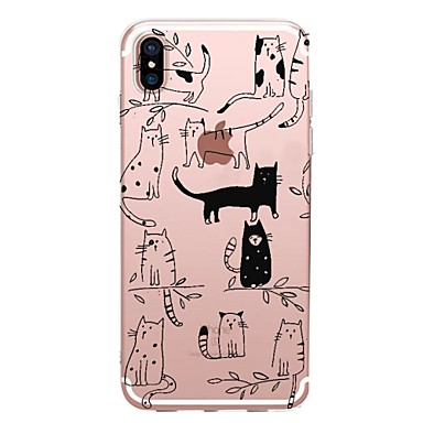 Plus Gatto 8 iPhone iPhone disegno 8 per Transparente 06283460 Morbido iPhone Plus Fantasia X 8 Per Custodia X Per iPhone retro TPU iPhone Apple pwp86