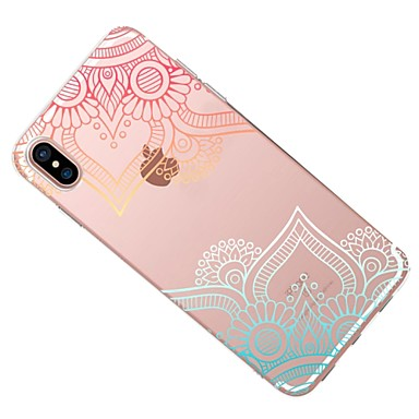 Morbido Transparente Plus retro in Per La Per X Fantasia Apple 8 8 iPhone iPhone pizzo Custodia per iPhone 06283780 disegno stampa X iPhone TPU FUzq88w