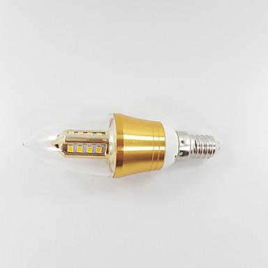 650-700 lm E14 Luzes de LED em Vela CA35 leds SMD Decorativa Branco Quente AC 85-265V