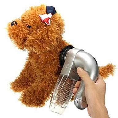 رخيصةأون مستلزمات وأغراض العناية بالكلاب-قط كلب التنظيف أمشاط تدليك قابل للتدوير رمادي