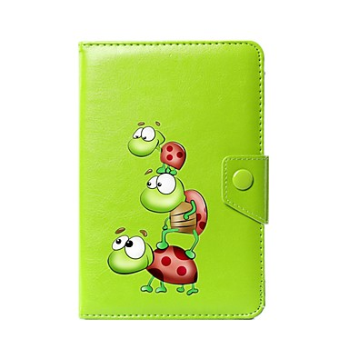 Case For Full Body Cases Tablet Cases Cartoon Animal Hard PU Leather for