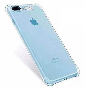 voordelige iPhone 5 hoesjes-hoesje Voor Apple iPhone X / iPhone 8 Plus / iPhone 8 Schokbestendig / LED-knipperlicht Achterkant Transparant Zacht TPU