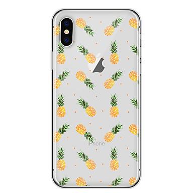 Hülle Für Apple iPhone X iPhone 8 Transparent Muster Rückseite Frucht Weich TPU für iPhone X iPhone 8 Plus iPhone 8 iPhone 7 Plus iPhone