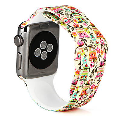 Horlogeband voor Apple Watch Series 3 / 2 / 1 Apple Sportband Silicone Polsband