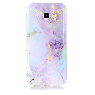 voordelige Galaxy A-serie hoesjes / covers-hoesje Voor Samsung Galaxy A3 (2017) / A5 (2017) Beplating / IMD Achterkant Marmer Zacht TPU