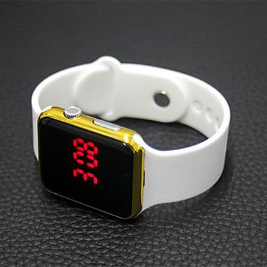 billige Herreure-Dame Digital Watch Gummi Sort / Hvid LCD Analog Afslappet Mode Elegant Jul - Lilla Sort og Guld Blå Et år Batteri Levetid