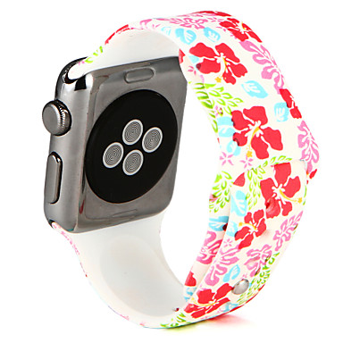 Horlogeband voor Apple Watch Series 3 / 2 / 1 Apple Polsband Sportband Silicone