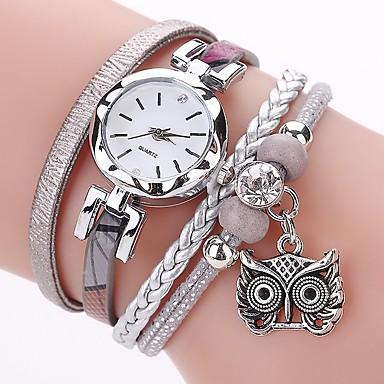 8f47b9459 Women's Ladies Bracelet Watch Simulated Diamond Watch Diamond Watch Quartz  Wrap Quilted PU Leather Black /