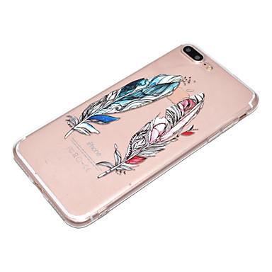 X iPhone X Plus Plus TPU iPhone Per 8 disegno Fantasia 8 8 06359945 Piume retro Transparente Apple per Custodia iPhone iPhone iPhone Morbido Per TaWqAtS
