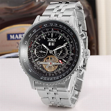 Χαμηλού Κόστους Ανδρικά ρολόγια-Jaragar Ανδρικά Μοδάτο Ρολόι Διάφανο Ρολόι Ρολόι Καρπού Αυτόματο κούρδισμα Υπερμεγέθη Ανοξείδωτο Ατσάλι 30 m Ημερολόγιο Απίθανο Αναλογικό Πολυτέλεια Κλασσικό Καθημερινό -