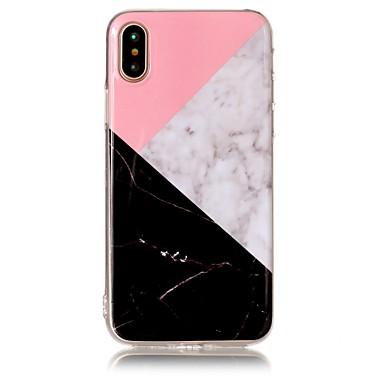 Pouzdro Uyumluluk Apple iPhone X iPhone 8 IMD Temalı Arka Kapak Mermer Yumuşak TPU için iPhone X iPhone 8 Plus iPhone 8 iPhone 7 Plus