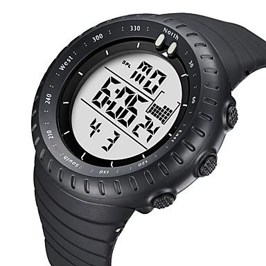 Недорогие Часы на кожаном ремешке-BIDEN Жен. Спортивные часы электронные часы Цифровой Кожа Черный 50 m Защита от влаги Календарь Фосфоресцирующий Аналоговый На каждый день Мода - Белый Черный