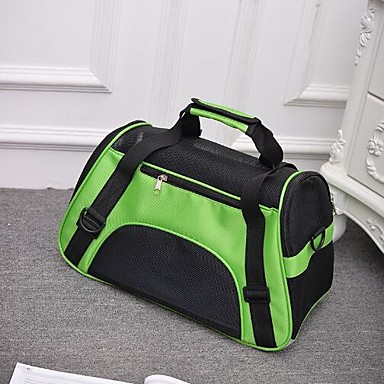 رخيصةأون مستلزمات وأغراض العناية بالكلاب-قط كلب حقيبة ظهر حيوانات أليفة حاملات المحمول متنفس قابلة للطى لون سادة أرجواني أخضر أزرق