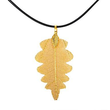 billige Mode Halskæde-Dame juletræ Bladformet Geometrisk form Livets træ Klassisk Vintage Overdimensionerede Mode Europæisk Halskædevedhæng Kædehalskæde