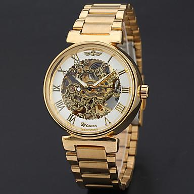 fc45a974eb2 WINNER Homens Relógio de Pulso relógio mecânico Automático - da corda  automáticamente Aço Inoxidável Dourada 30