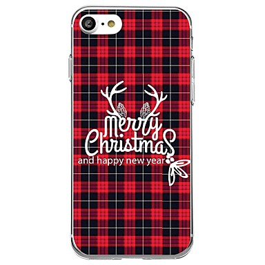 voordelige iPhone 5 hoesjes-hoesje Voor iPhone 7 / iPhone 7 Plus / iPhone 6s Plus iPhone 8 Plus / iPhone 8 / iPhone SE / 5s Patroon Achterkant Kerstmis Zacht TPU / iPhone X