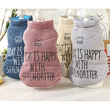 Dog Vest Dog Clothes Casual/Daily Letter & Number Gray Yellow Blue Pink Costume For Pets