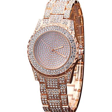 Pentru femei Ceas La Modă Ceas de Mână Ceas Casual Ceasuri Pave Quartz Aliaj Bandă Charm Cool Casual Creative Luxos Elegant Argint Auriu