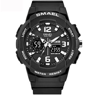 Недорогие Женские часы-Муж. Жен. Спортивные часы электронные часы Японский Цифровой силиконовый Черный / Розовый / Желтый 50 m Защита от влаги Календарь Секундомер Аналого-цифровые На каждый день -  / Хронометр