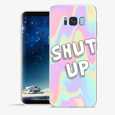 Etui Til Samsung Galaxy S8 Plus / S8 Mønster Bagcover Ord / sætning / Marmor Blødt TPU for S8 Plus / S8 / S7 edge