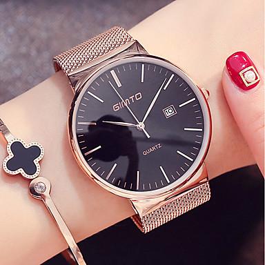 de1c84ed59b59 نسائي ساعة المعصم ساعة ذهبية ياباني كوارتز ستانلس ستيل أسود   فضة 30 m  رزنامه كوول