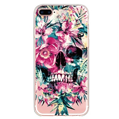 Case For Apple iPhone X iPhone 8 Plus Pattern Back Cover Flower Skull Soft TPU for iPhone X iPhone 8 Plus iPhone 8 iPhone 7 Plus iPhone 7