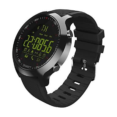 זול שעונים חכמים-EX18 גברים חכמים שעונים Android iOS Blootooth ספורטיבי עמיד במים כלוריות שנשרפו מד צעדים מידע שעון עצר מד צעדים מזכיר שיחות שלט רחוק עוקב כושר / מעקב שינה / Alarm Clock / חיישן כבידה / שליטה בהודעות